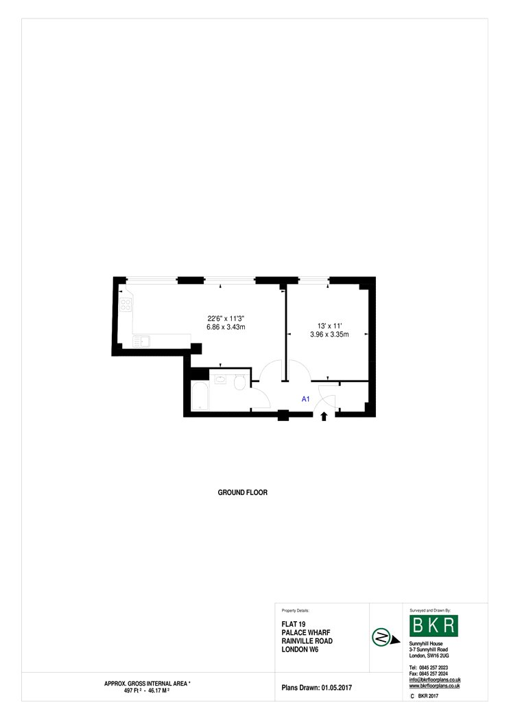 1 bedroom property to rent in 19 palace wharf  crabtree