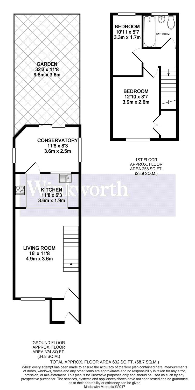 2 bedroom property for sale in siskin close  borehamwood