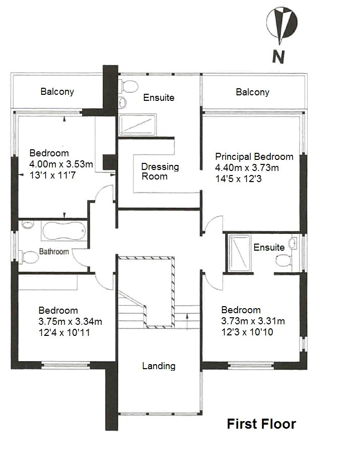 Floorplans for Red Rocks, Millbank Road, Clovenfords, TD1