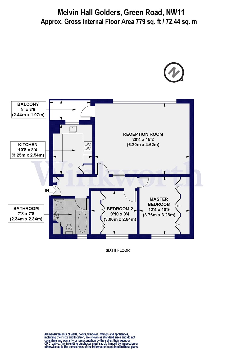2 Bedroom Property For Sale In Melvin Hall Golders Green