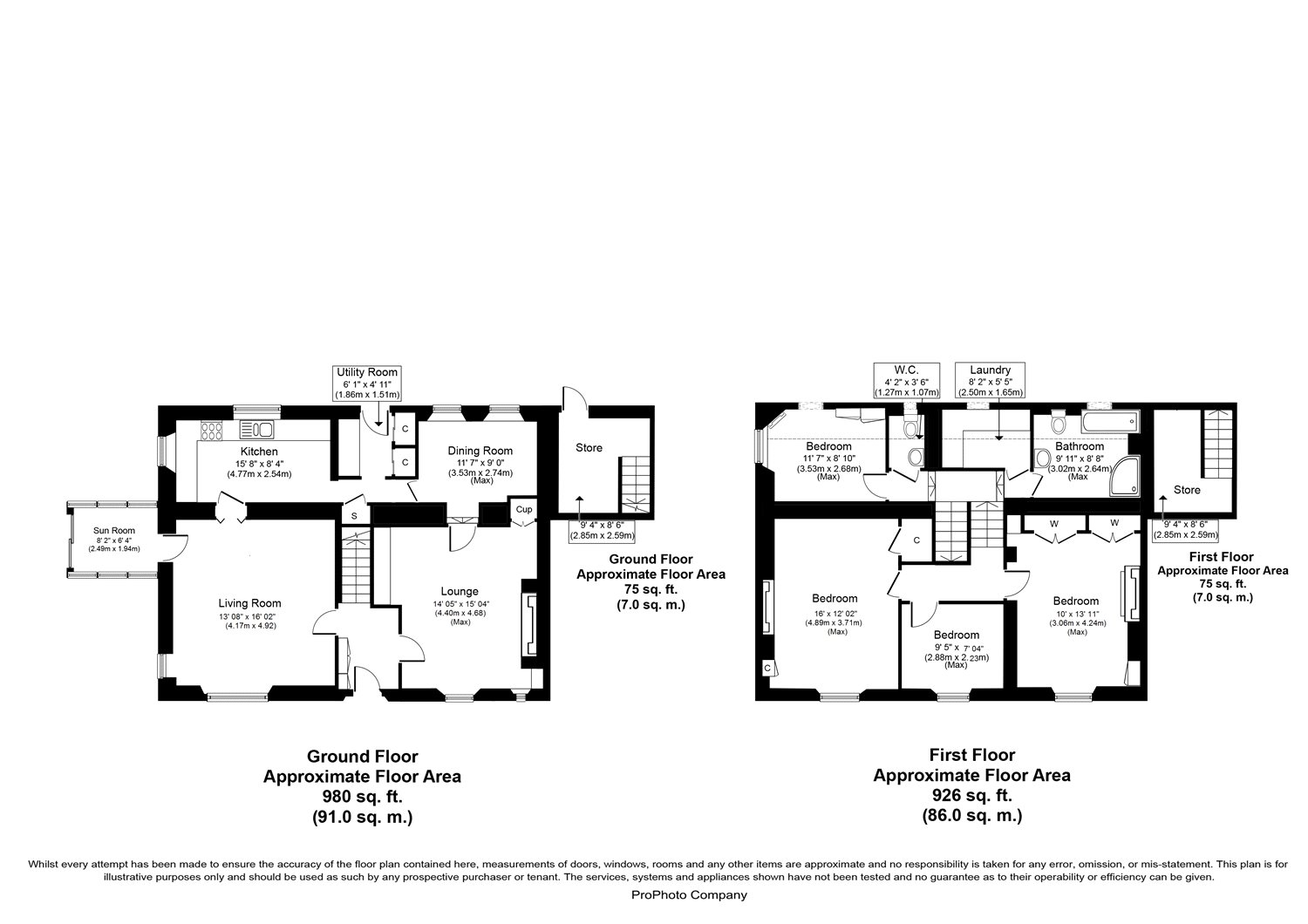 Floorplans for Boston House, Gattonside, Melrose, TD6