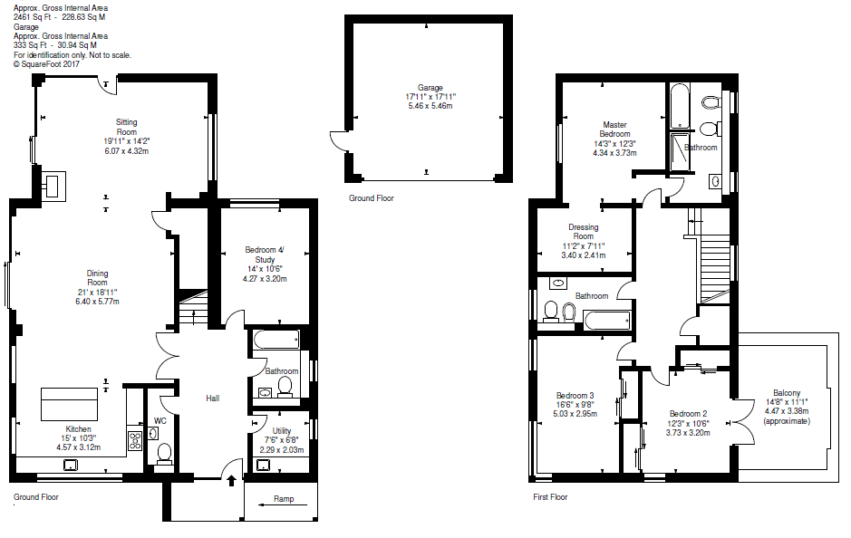 Floorplans for 7 William Burn Grove, Whitehill Woods, Rosewell, EH24