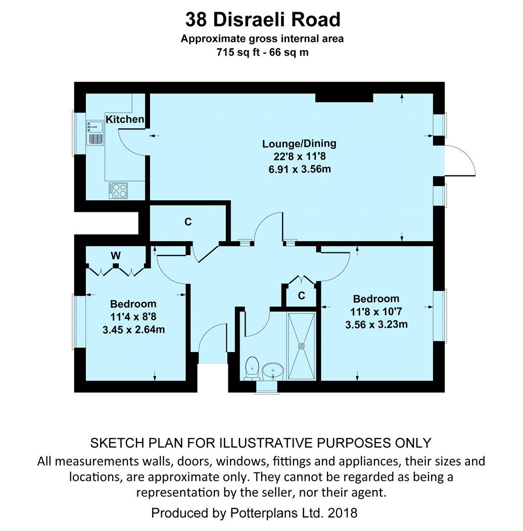 2 bedroom property for sale in Disraeli Road, Christchurch, Dorset ...