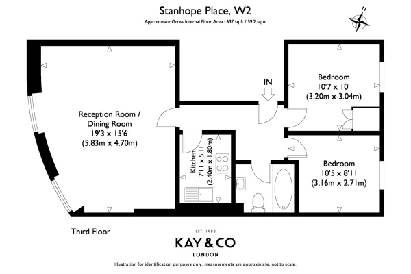 Floorplan for Stanhope Place, Hyde Park, London, W2