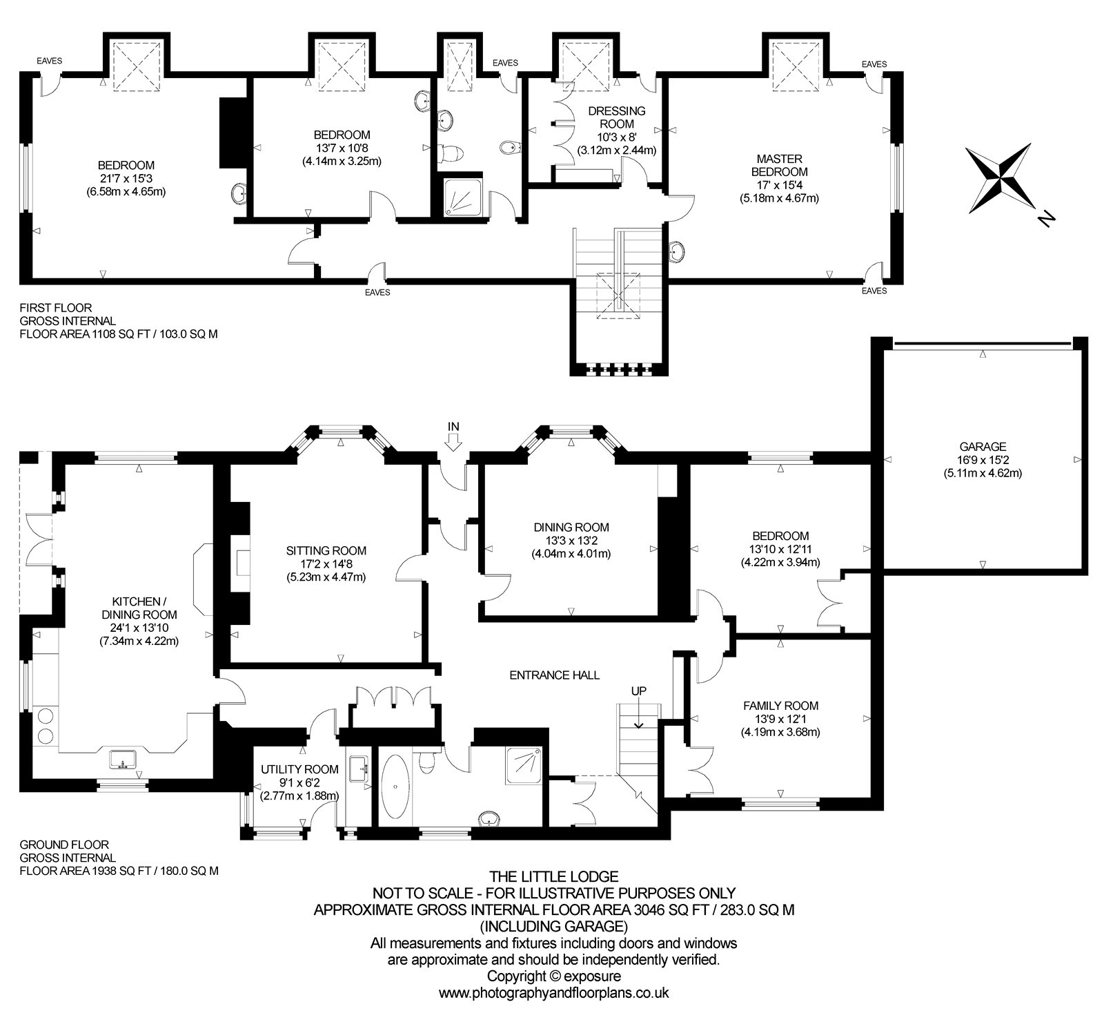 Floorplans for The Little Lodge, Barnhill, Perth, PH2