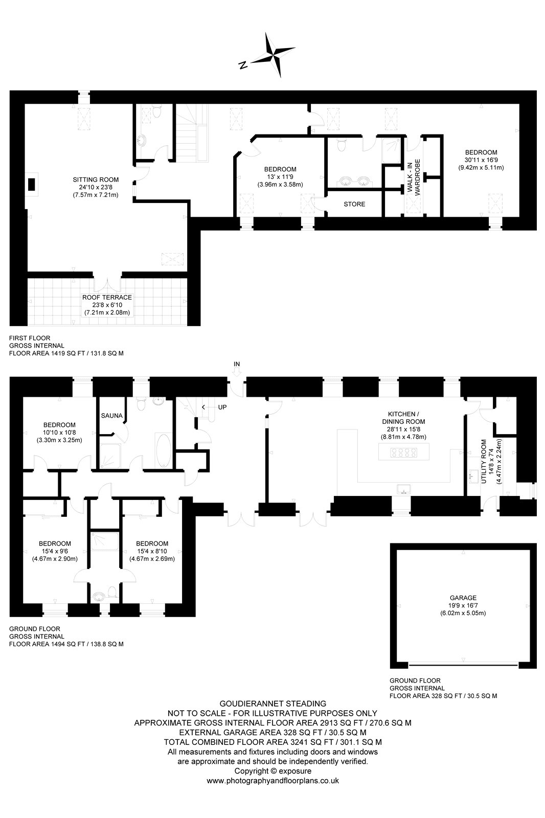 Floorplans for 1 Goudierannet Farm, Brunthill, Kinross-shire, KY13