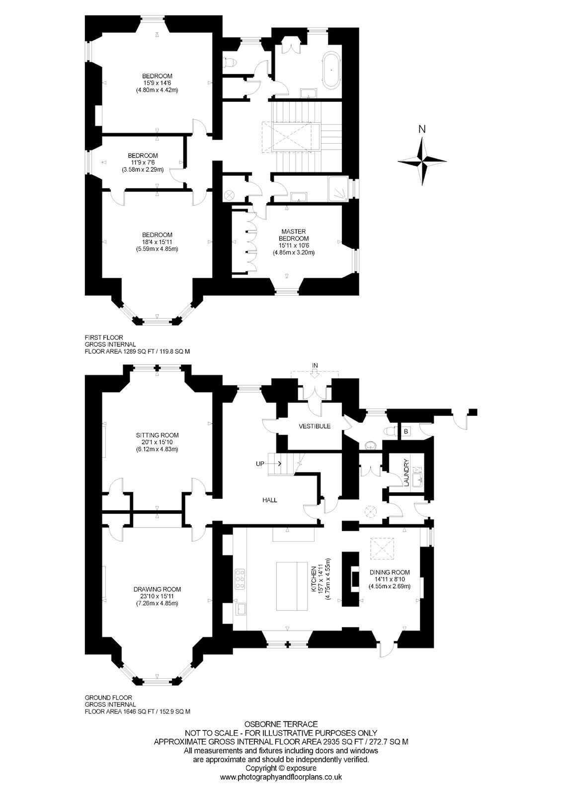Floorplans for Osborne Terrace, Edinburgh, Midlothian, EH12