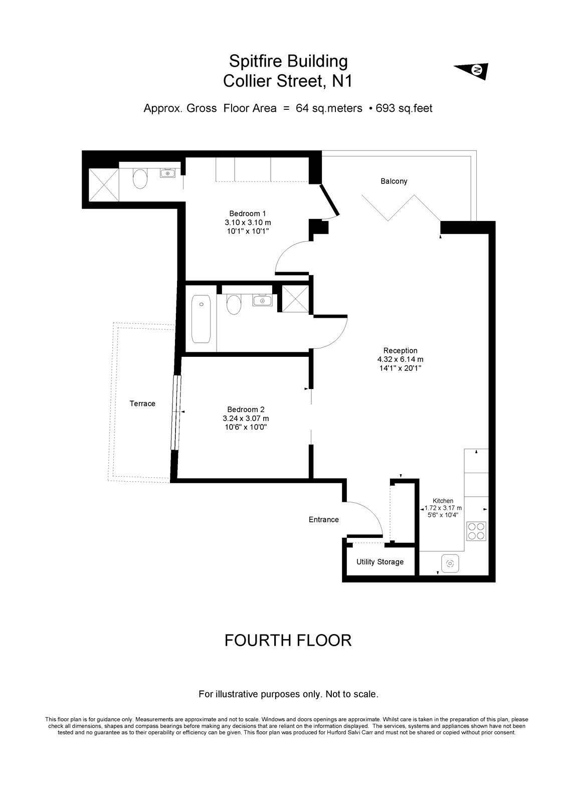Spitfire Building, 70 Collier Street, London, N1 floorplan