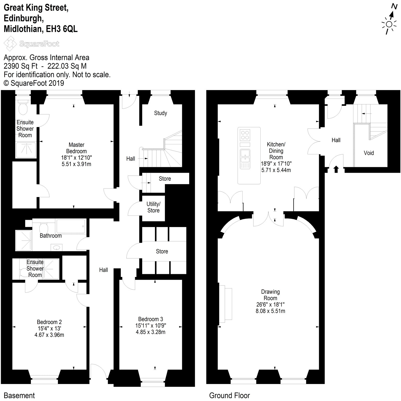Floorplans for Great King Street, Edinburgh, EH3