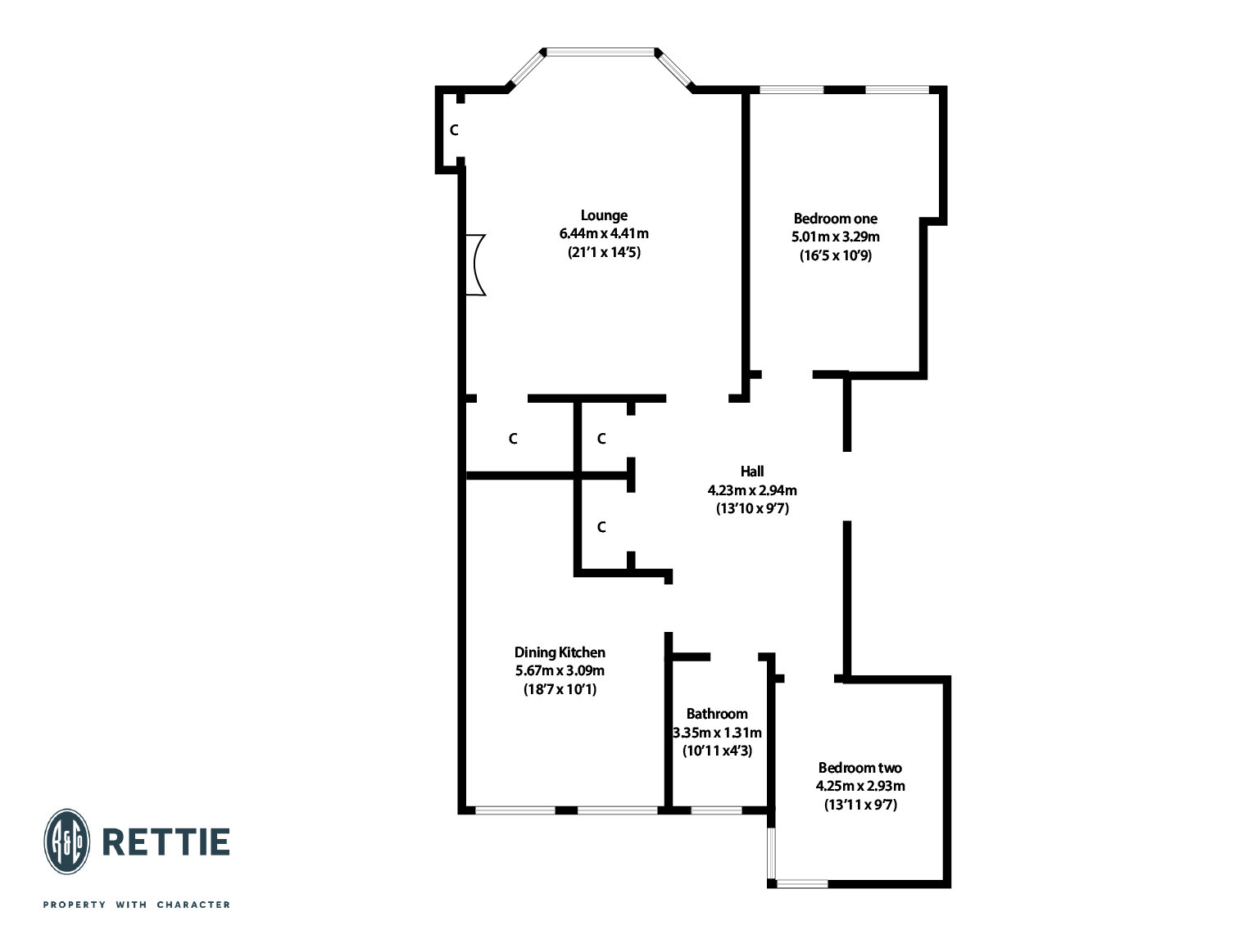 Floorplans for Broomhill Drive, Broomhill, Glasgow, G11