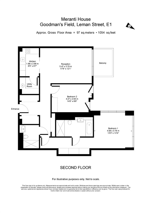 Goodman's Fields, 84 Alie Street, London, E1 floorplan