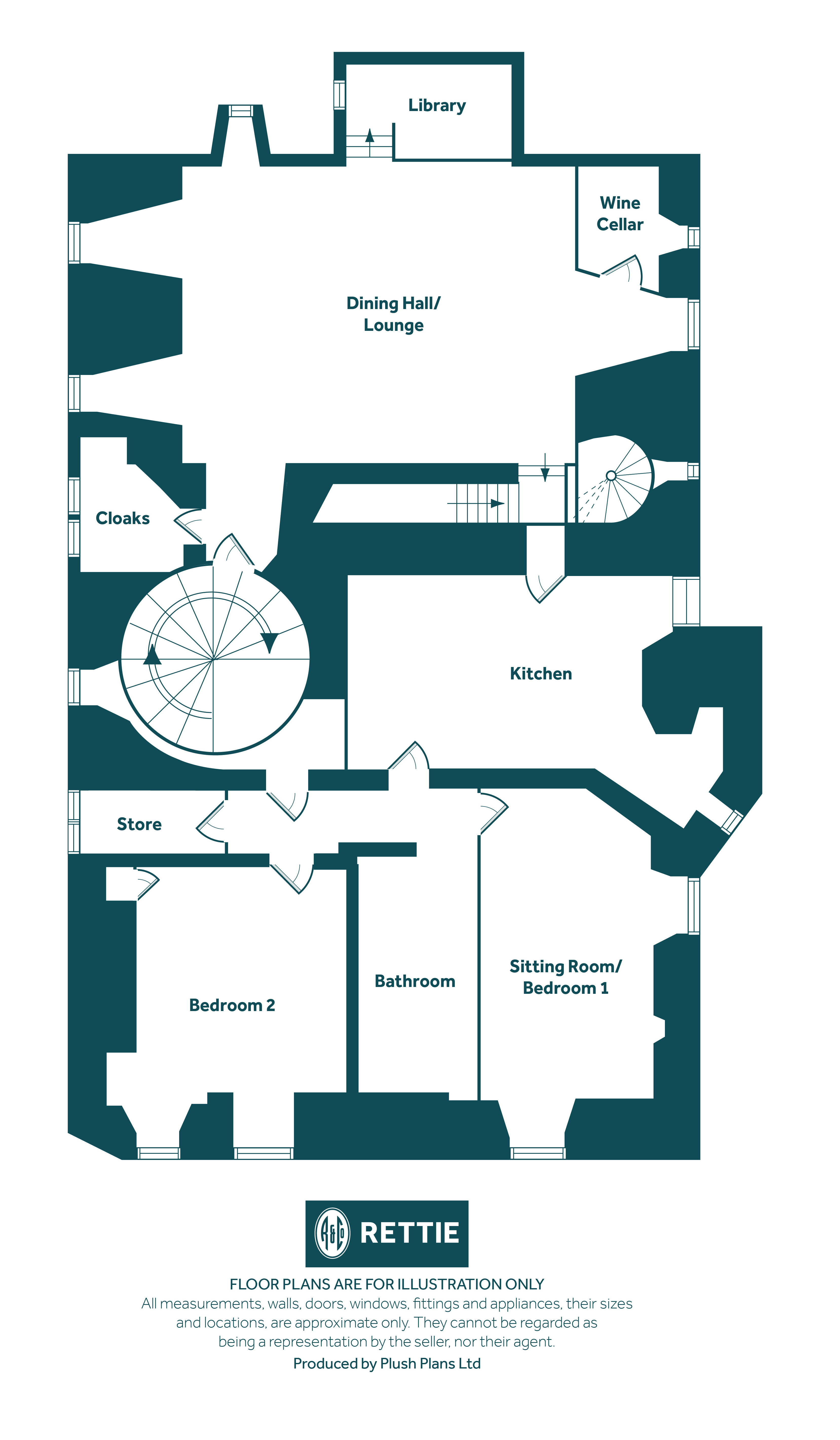 Floorplans for Dalzell House, Dalzell Drive, Motherwell, ML1