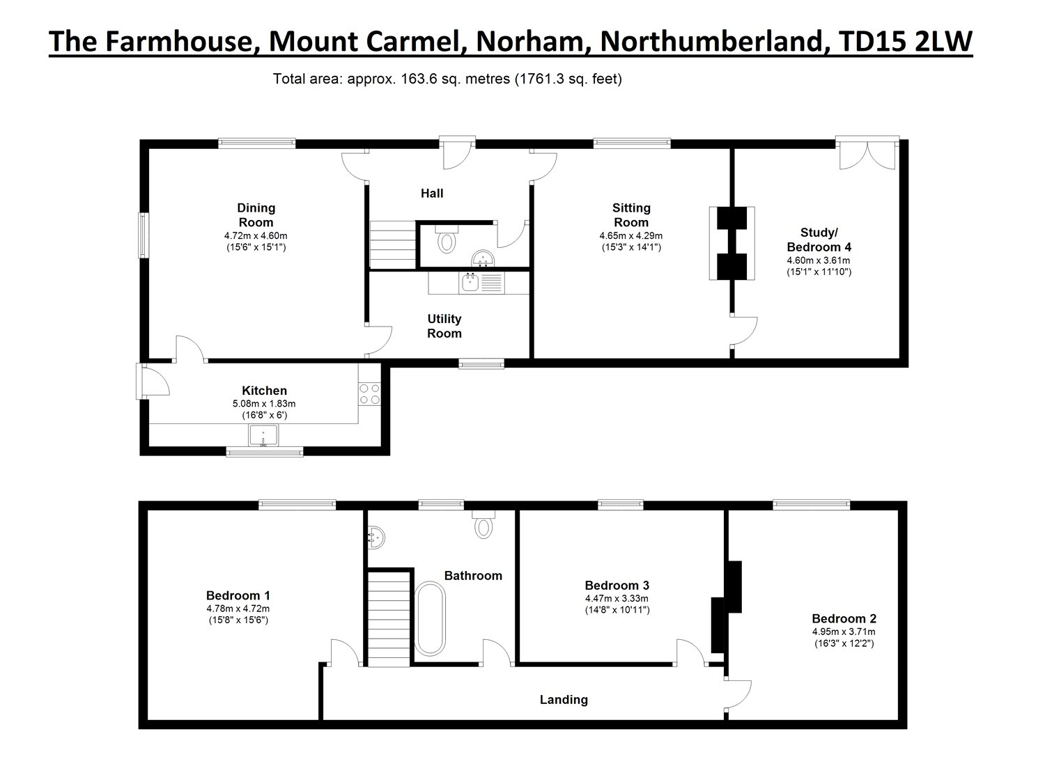 Floorplans for Mount Carmel, Norham, Northumberland, TD15