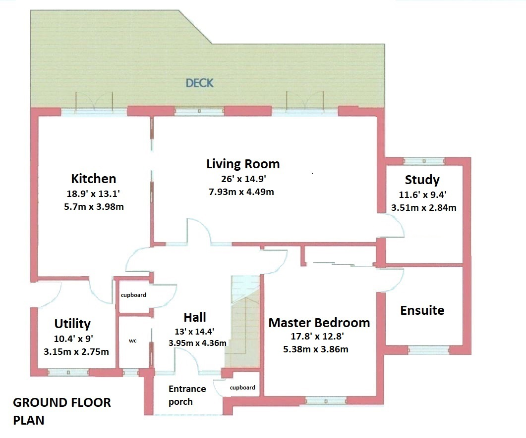 Floorplans for Ramsonsbank, Stichill, Kelso, TD5
