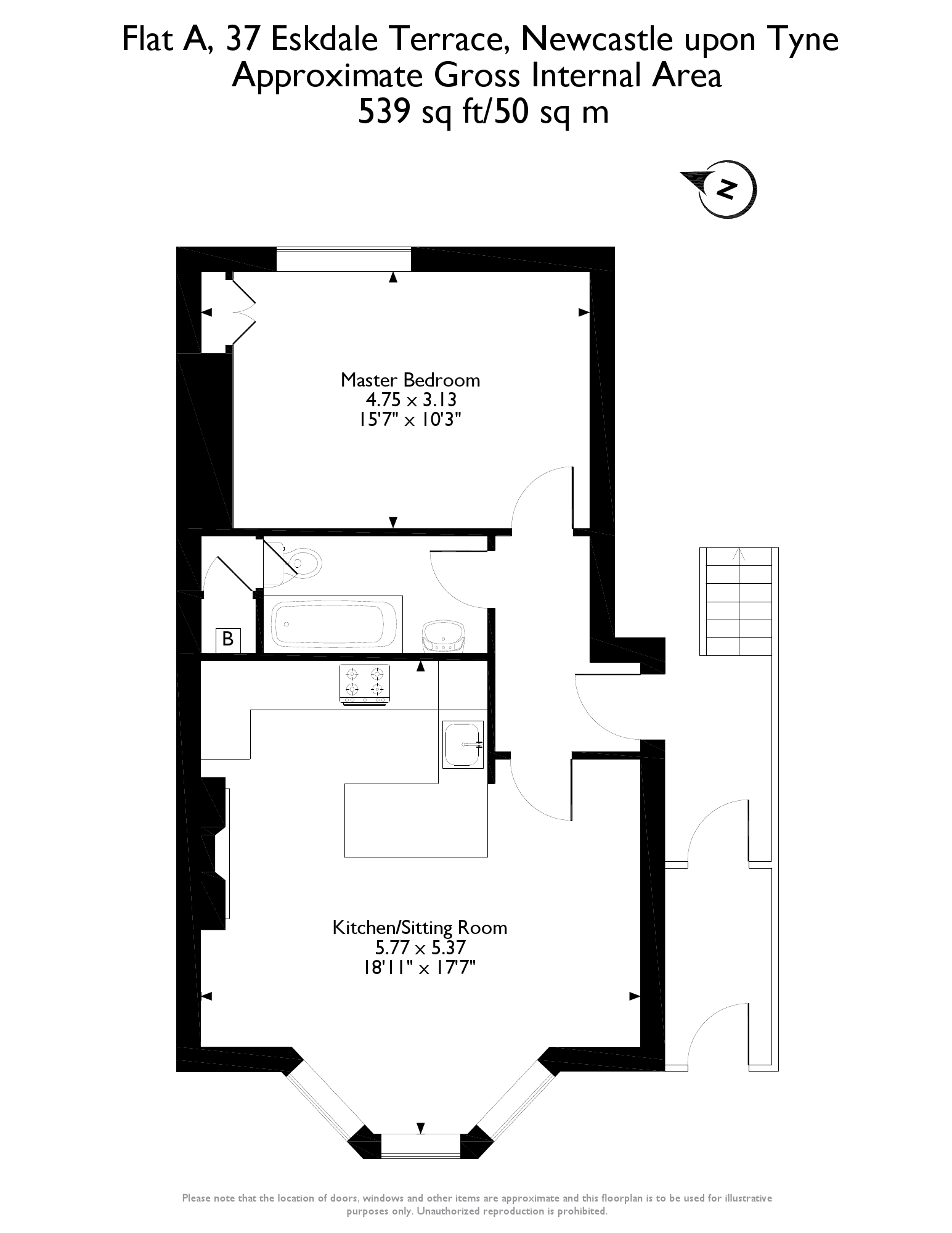Floorplans for Eskdale Terrace, Jesmond, Newcastle Upon Tyne, NE2
