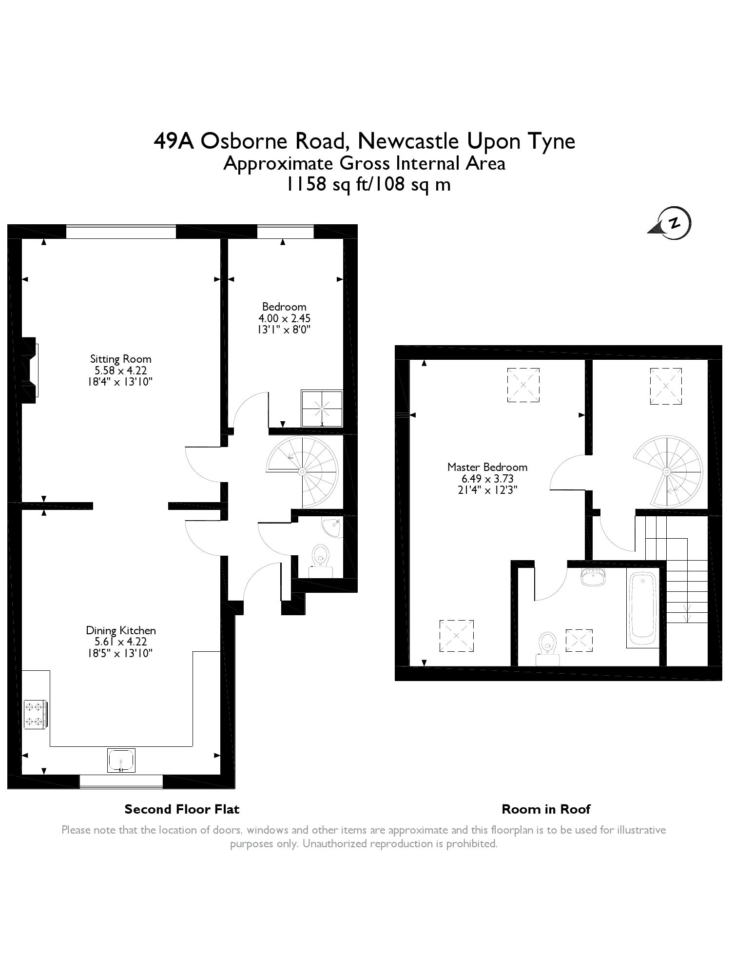 Floorplans for Osborne Road, Jesmond, Newcastle Upon Tyne, NE2
