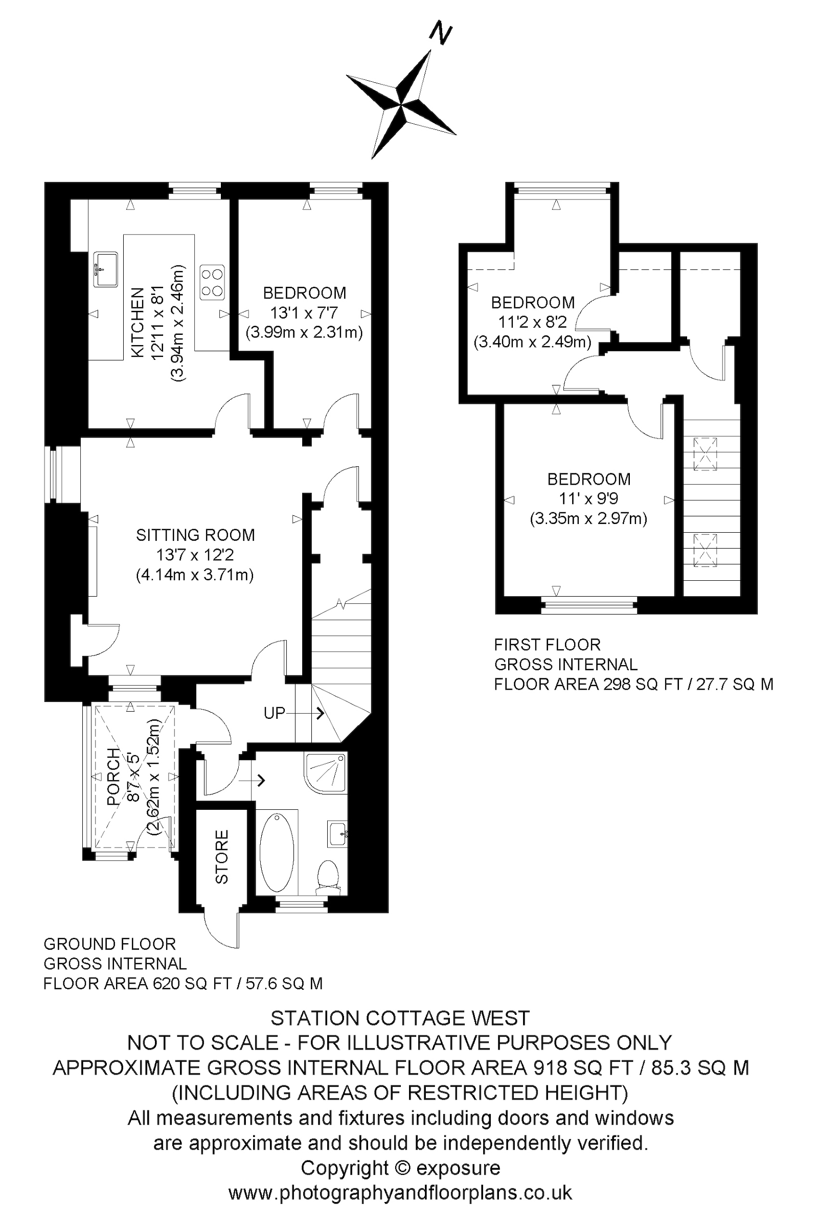 Floorplans for Tynehead, Pathhead, Midlothian, EH37