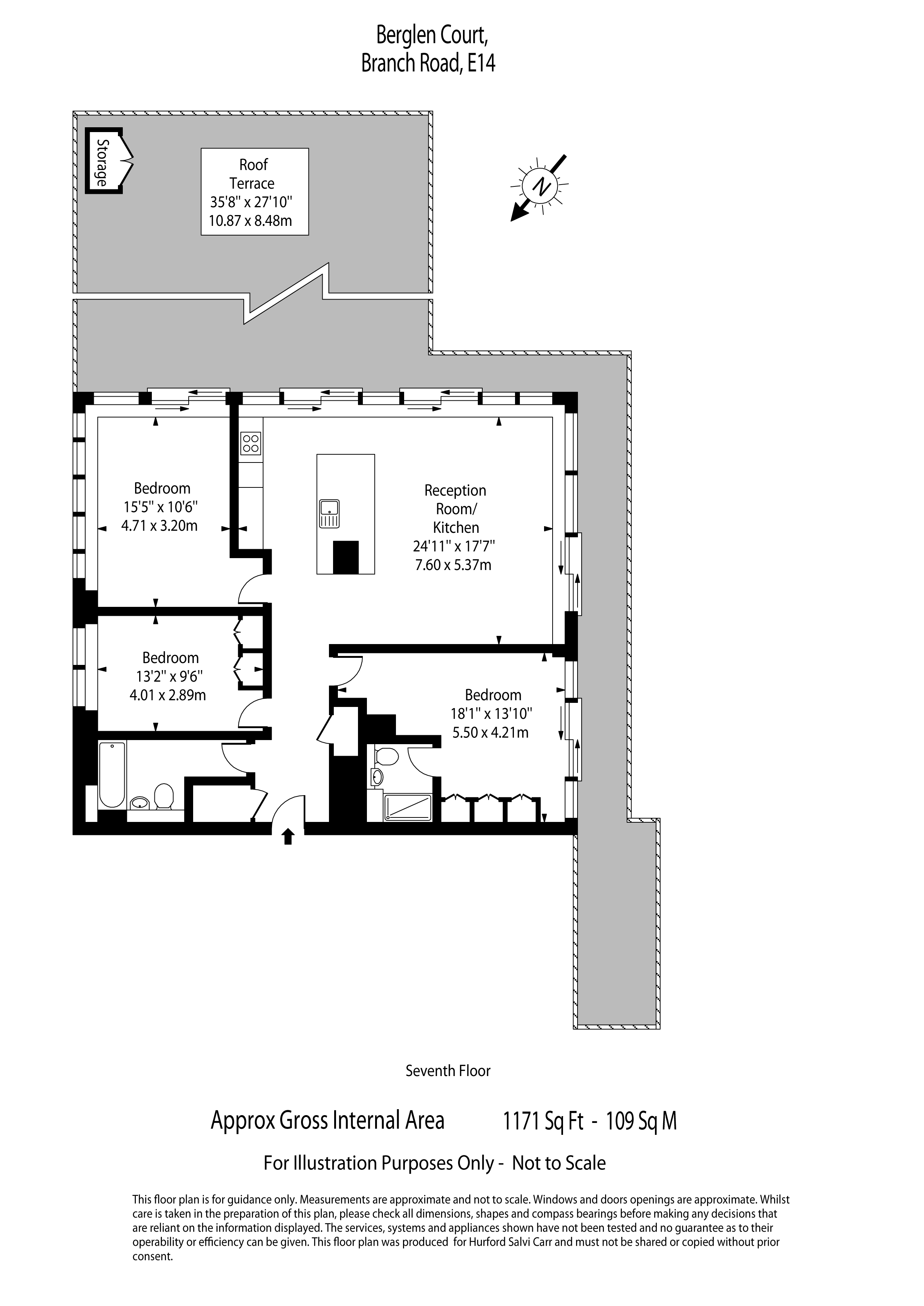 Berglen Court, 7 Branch Road, E14 floorplan