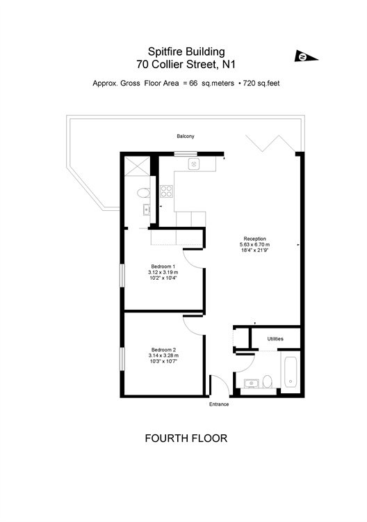 71 Collier Street, King's Cross, London, N1 floorplan