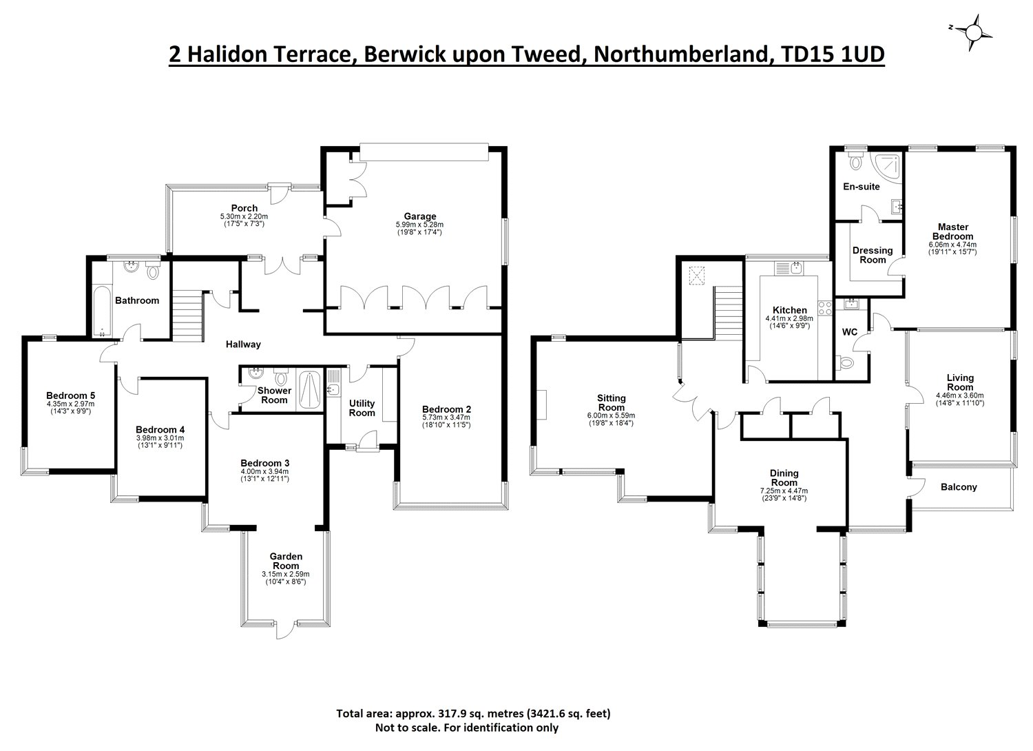 Floorplans for Halidon Terrace, Berwick-upon-Tweed, Northumberland, TD15