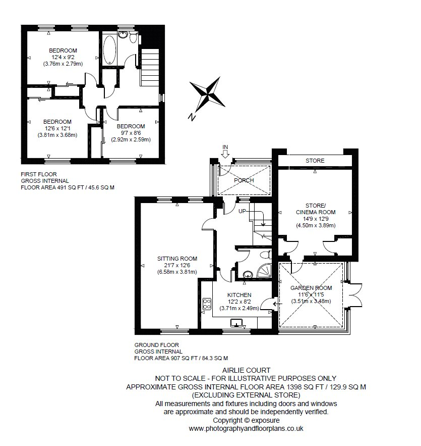 Floorplans for Airlie Court, Gleneagles Village, Auchterarder, PH3