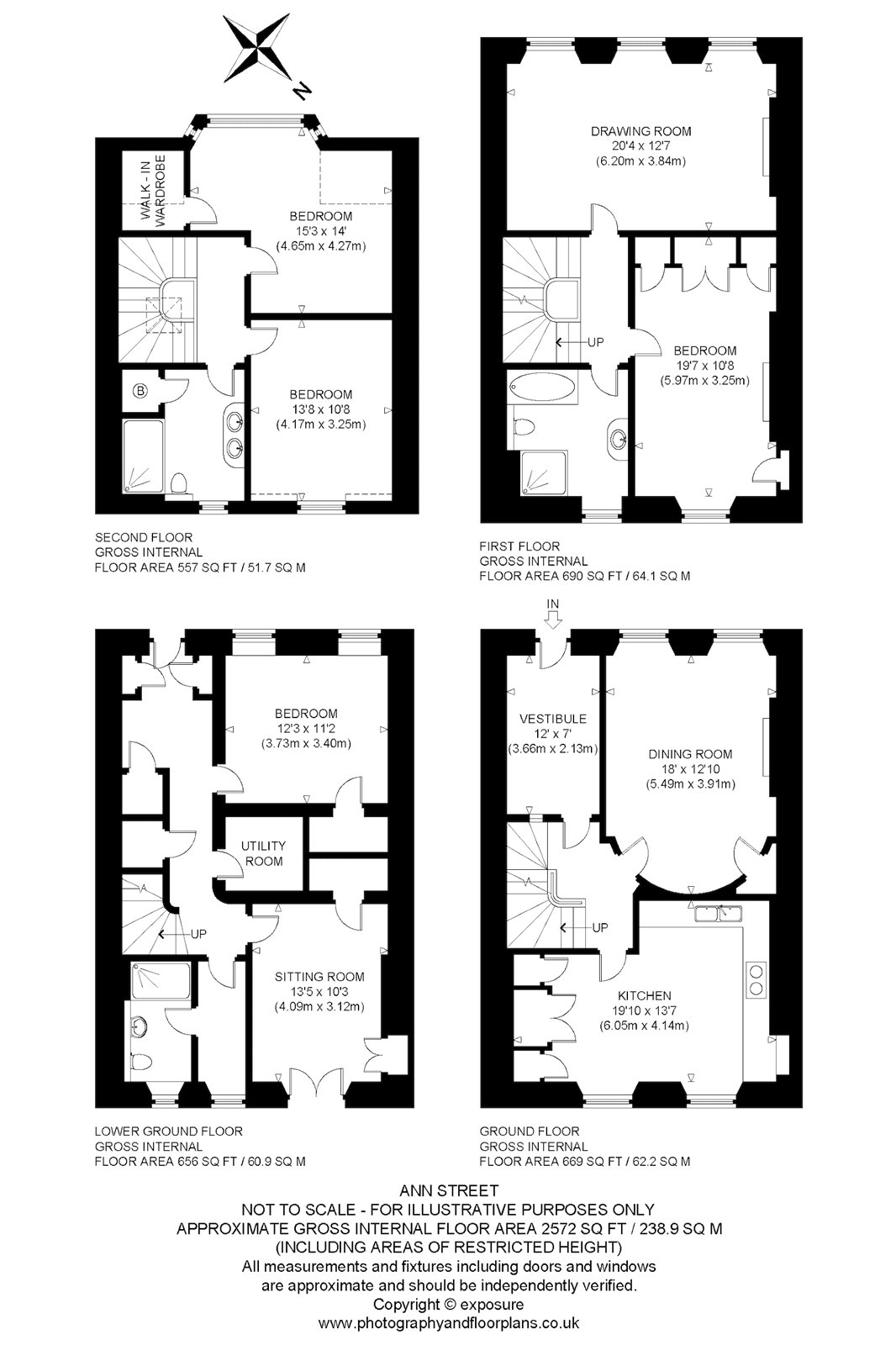 Floorplans for Ann Street, Edinburgh, Midlothian, EH4