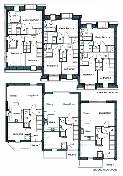 Floorplans for Plot C, Willow View, Main Street, Longniddry, EH32