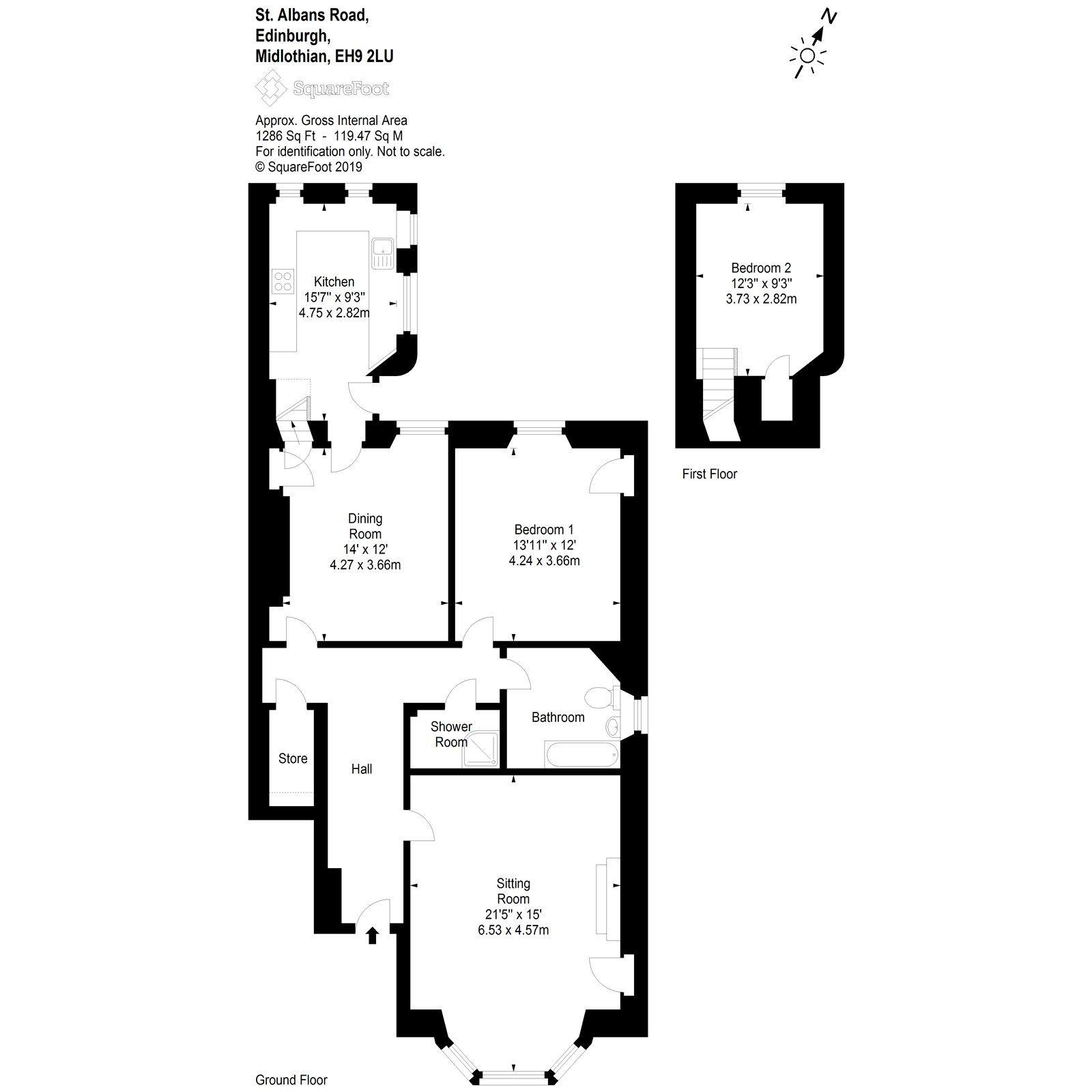 Floorplans for St Alban's Road, Edinburgh, EH9