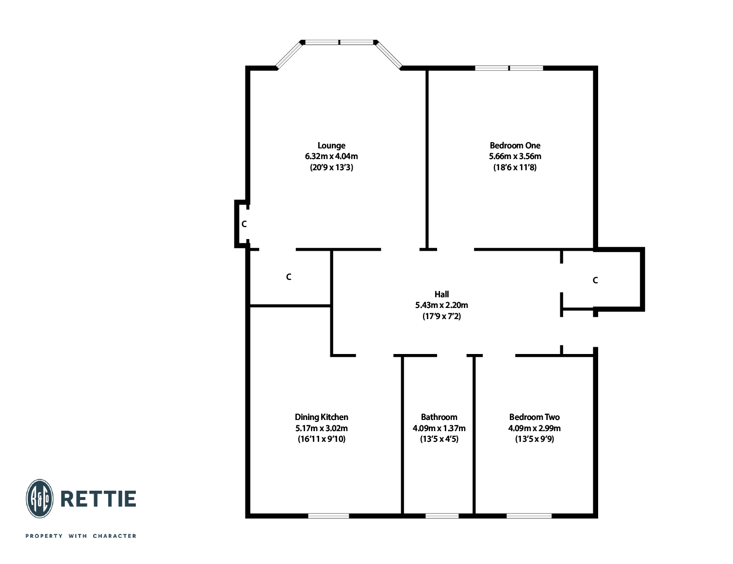 Floorplans for Woodlands Drive, Woodlands, Glasgow, G4