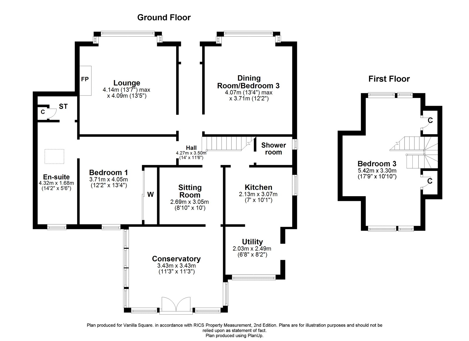 Floorplans for Kessington Drive, Bearsden, G61