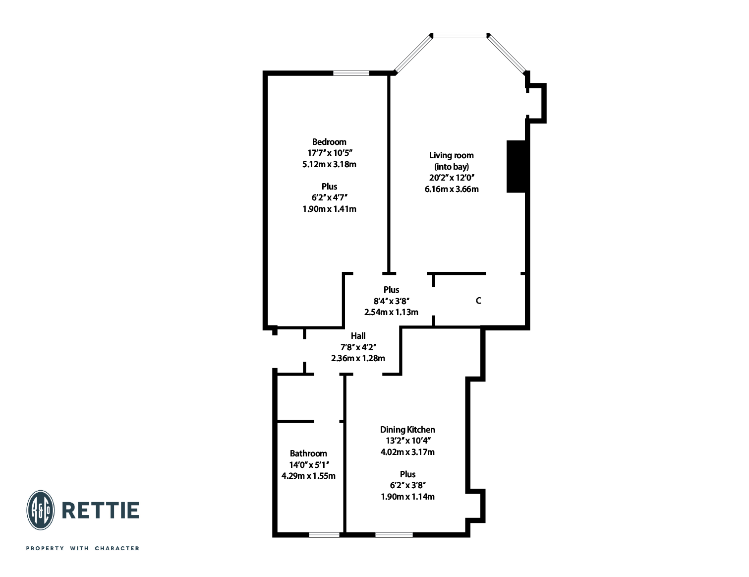 Floorplans for Melrose Gardens, North Kelvinside, Glasgow, G20