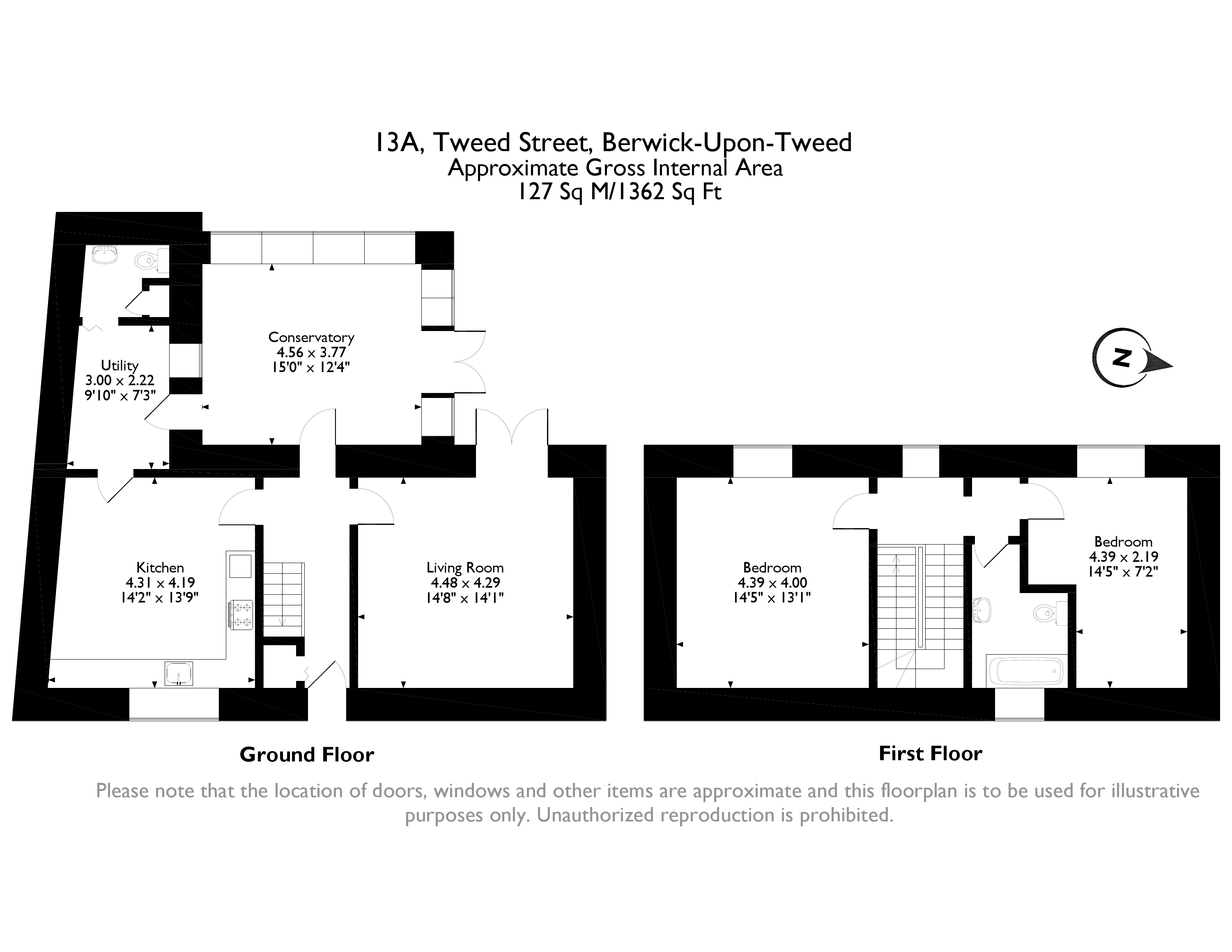Floorplans for Tweed Street, Berwick-upon-Tweed, Northumberland, TD15