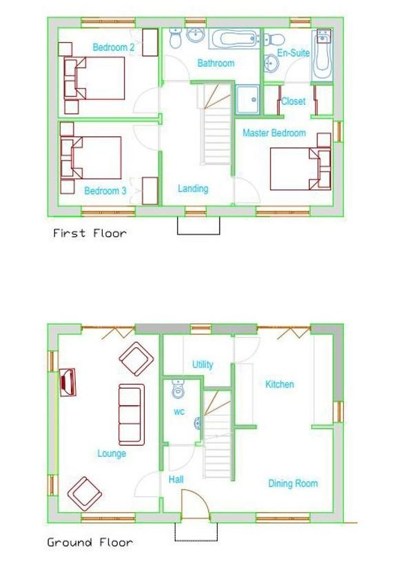 Floorplans for Cornhill Road, Berwick-upon-Tweed, Northumberland, TD15