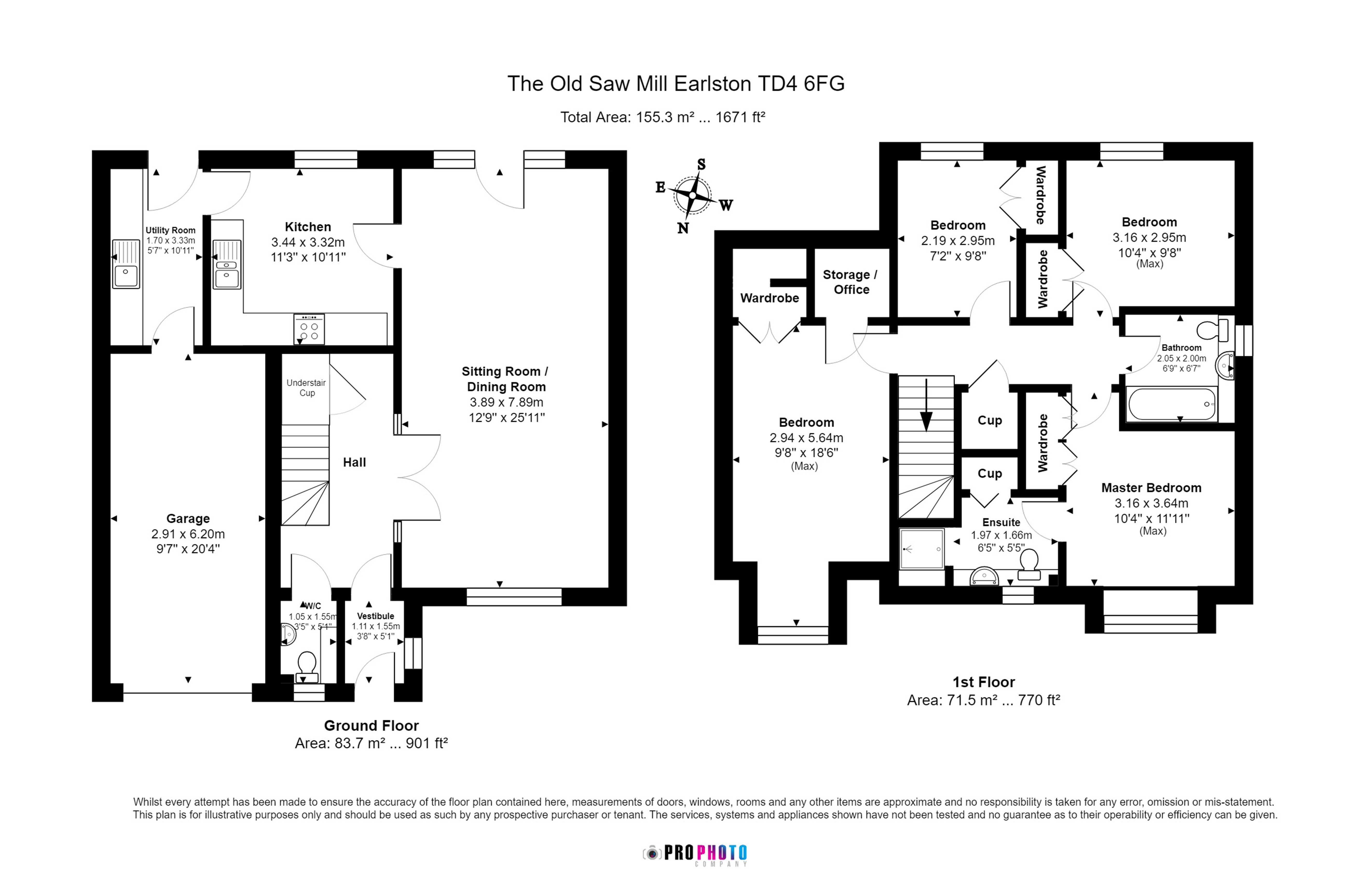 Floorplans for The Old Sawmill, Earlston, TD4