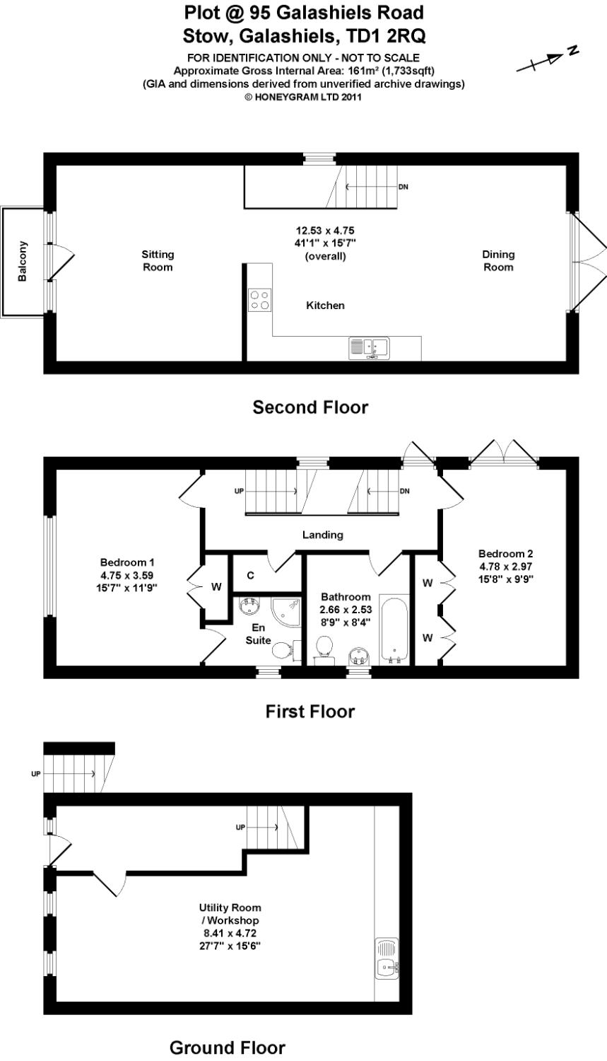 Floorplans for Stow Plot, 95 Galashiels Road, Stow, TD1