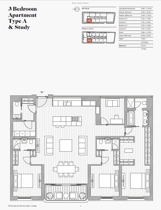 Floorplan for Moxon Street, Marylebone, London, W1U