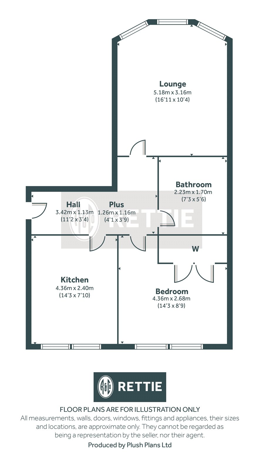 Floorplans for Dumbarton Road, Thornwood, Glasgow, G11
