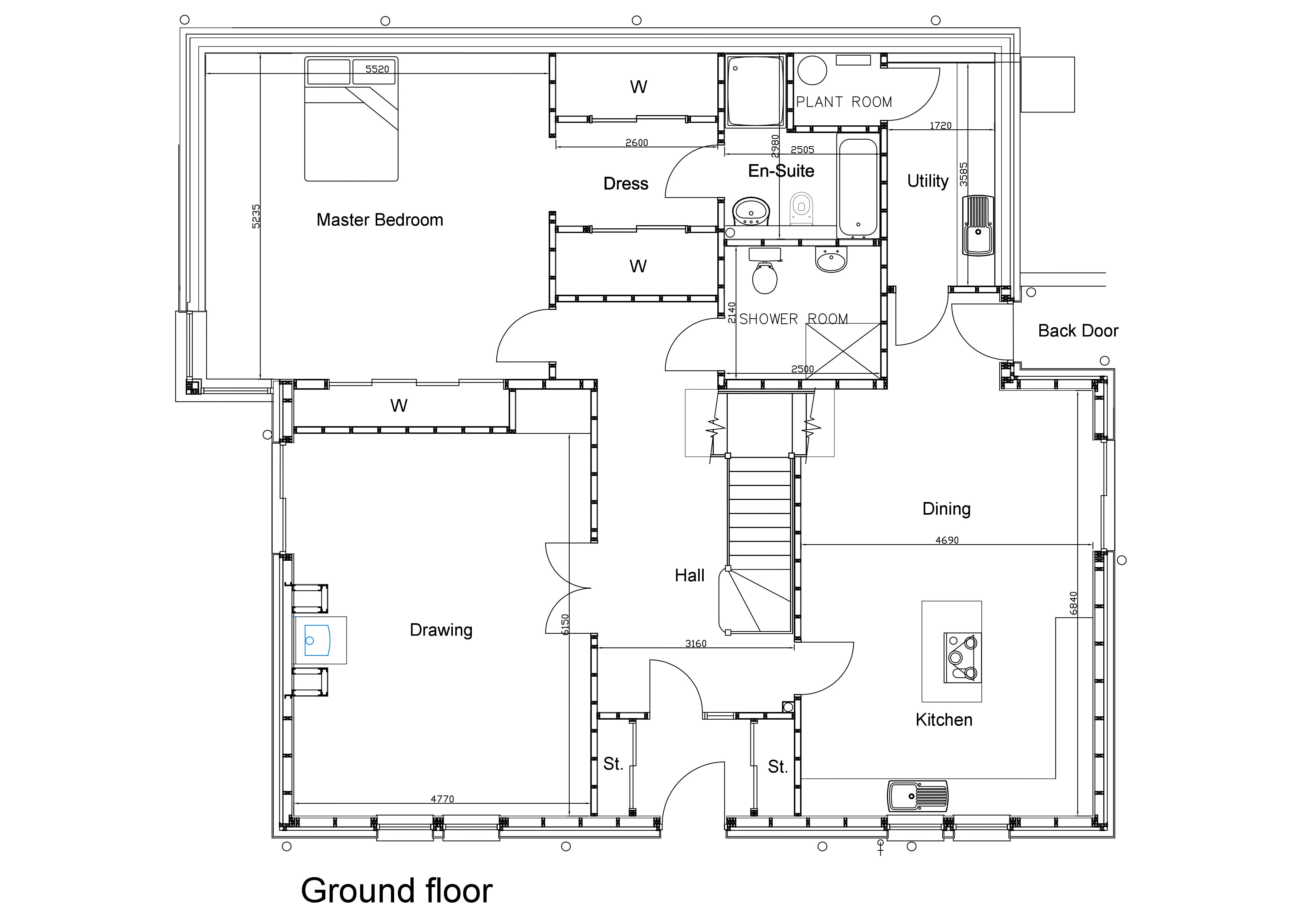 Floorplans for Orchardknowe, Gattonside, Scottish Borders, TD6