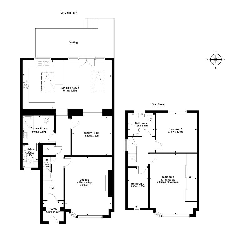 Floorplans for Avon Avenue, Bearsden, Glasgow, G61