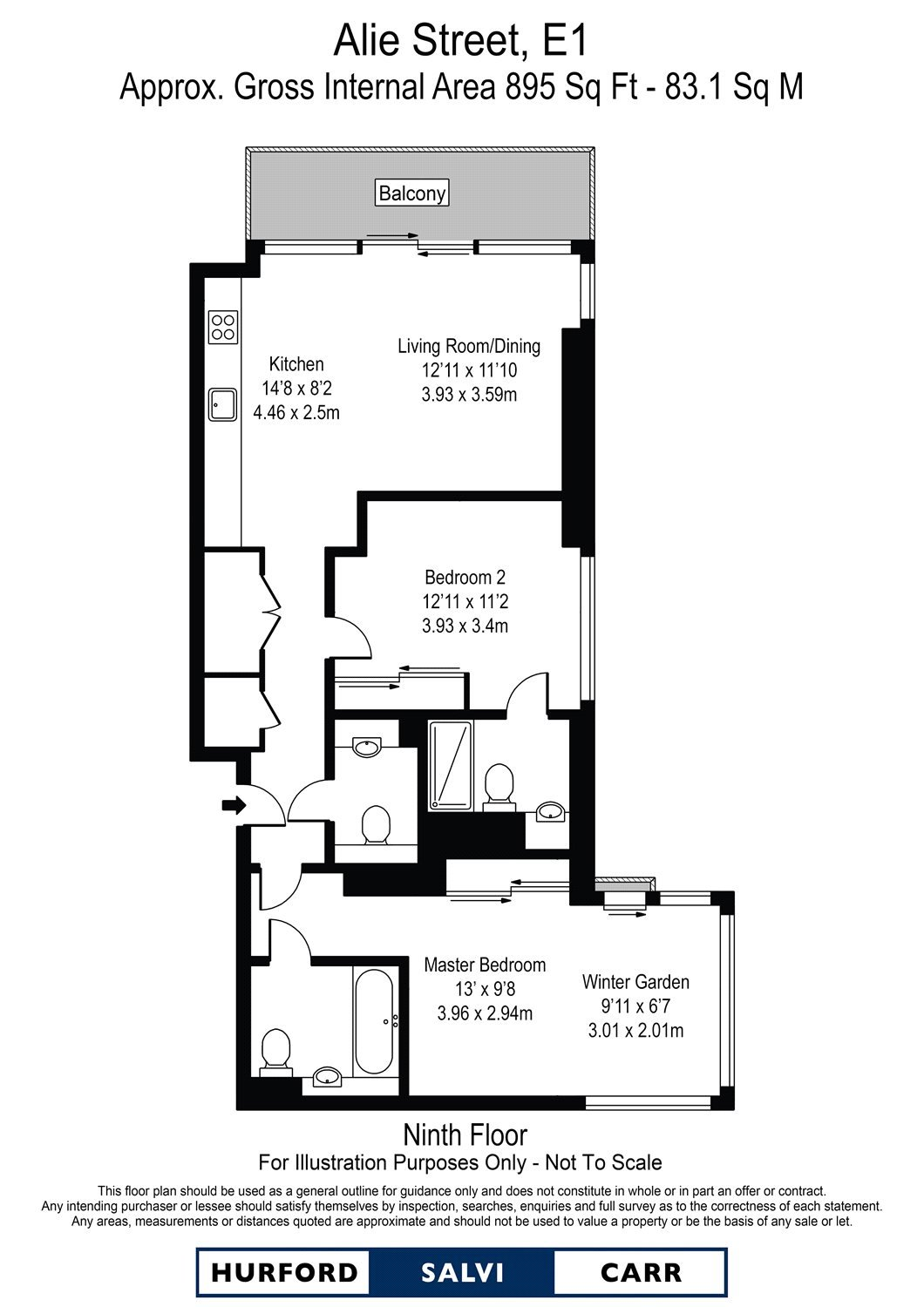 Kingwood Gardens, Goodmans Fields, E1 floorplan