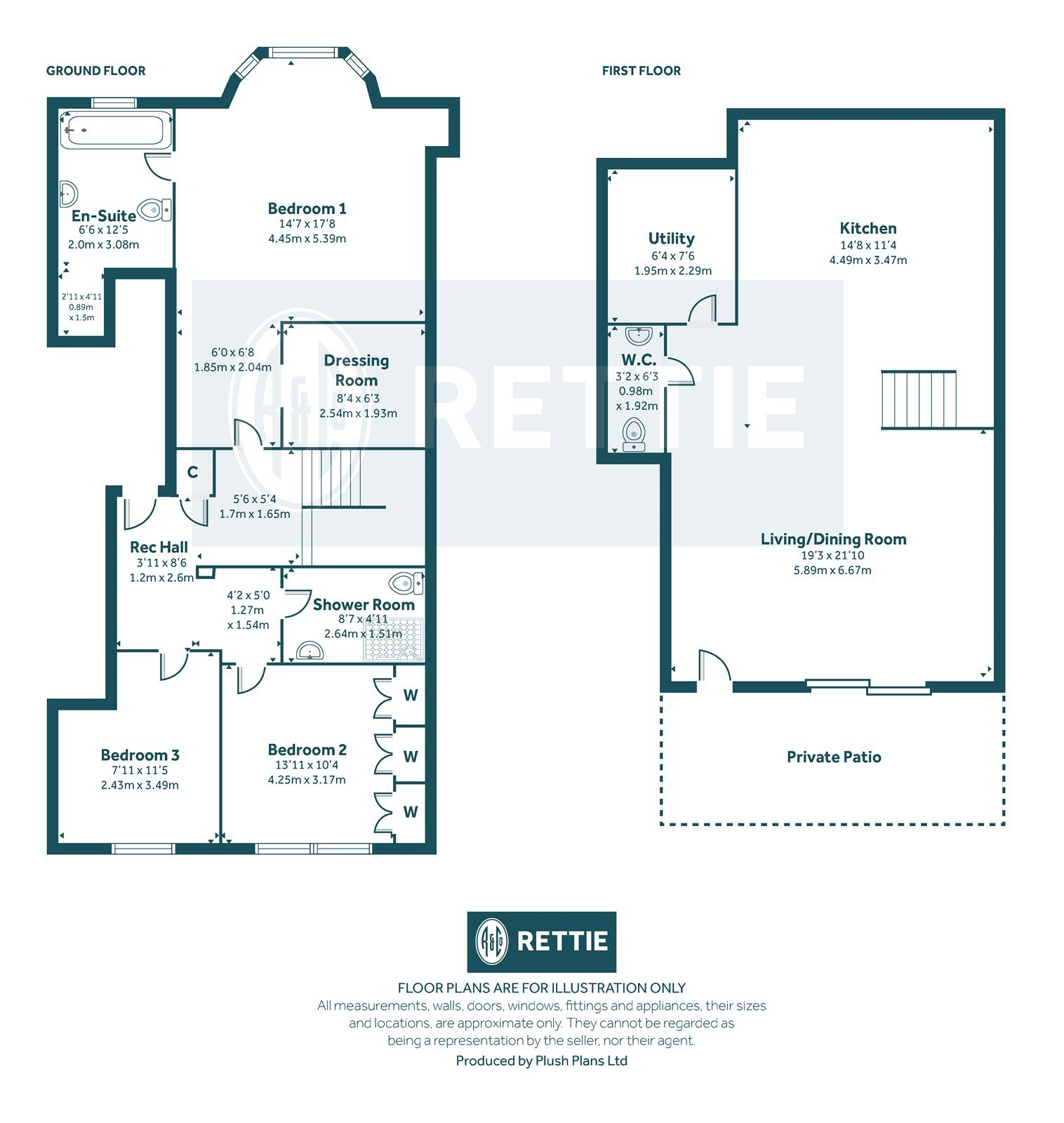 Floorplans for Bowmont Terrace, Dowanhill, Glasgow, G12