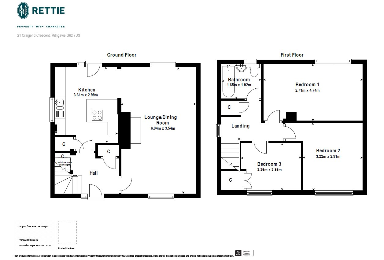 Floorplans for Craigend Crescent, Milngavie, Glasgow, G62