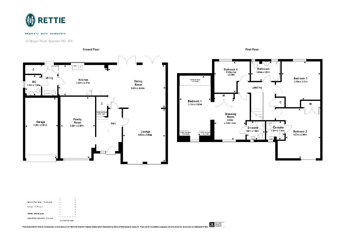 Floorplans for Morgan Wynd, Bearsden, G61