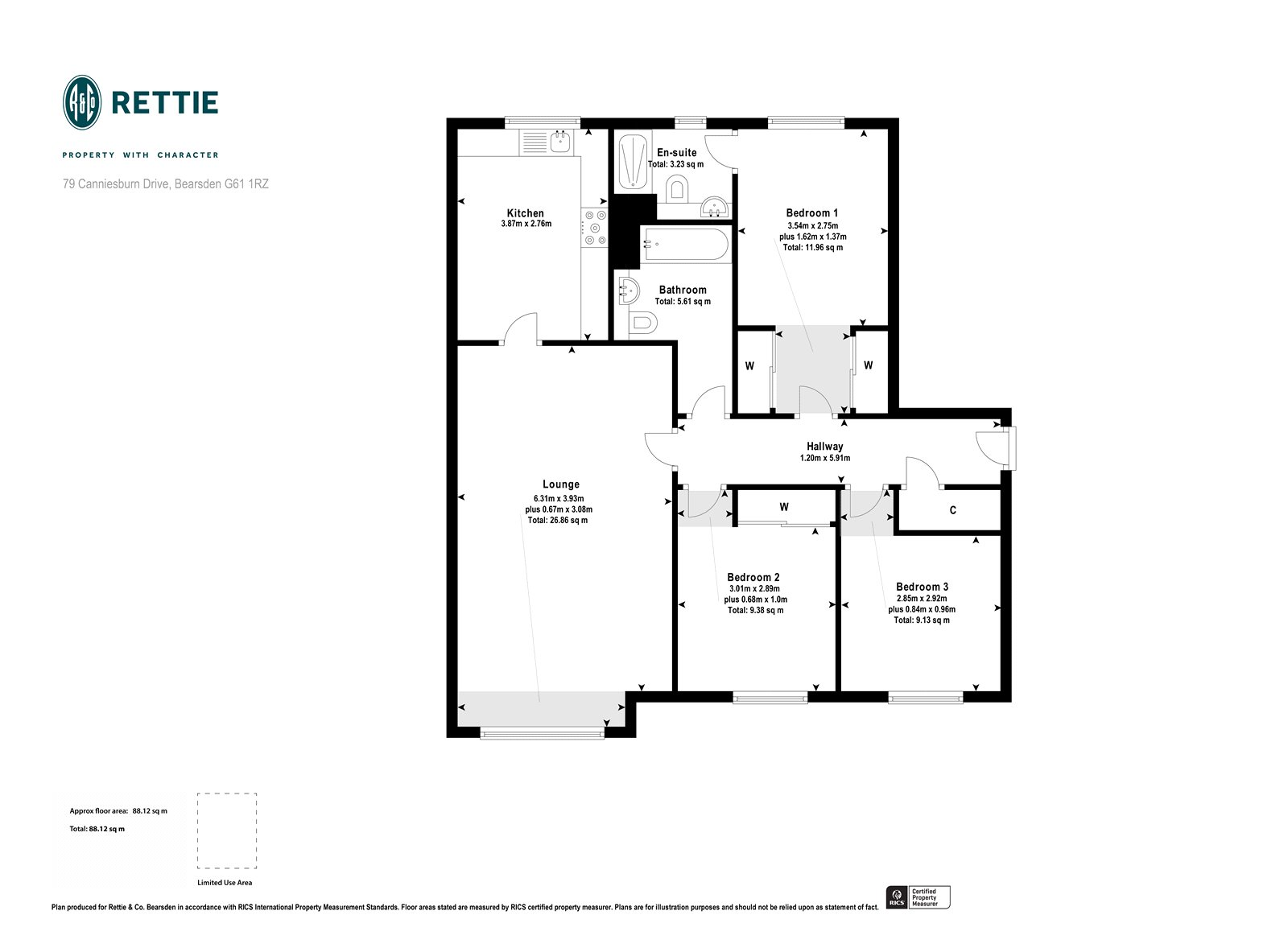 Floorplans for Canniesburn Drive, Bearsden, Glasgow, G61