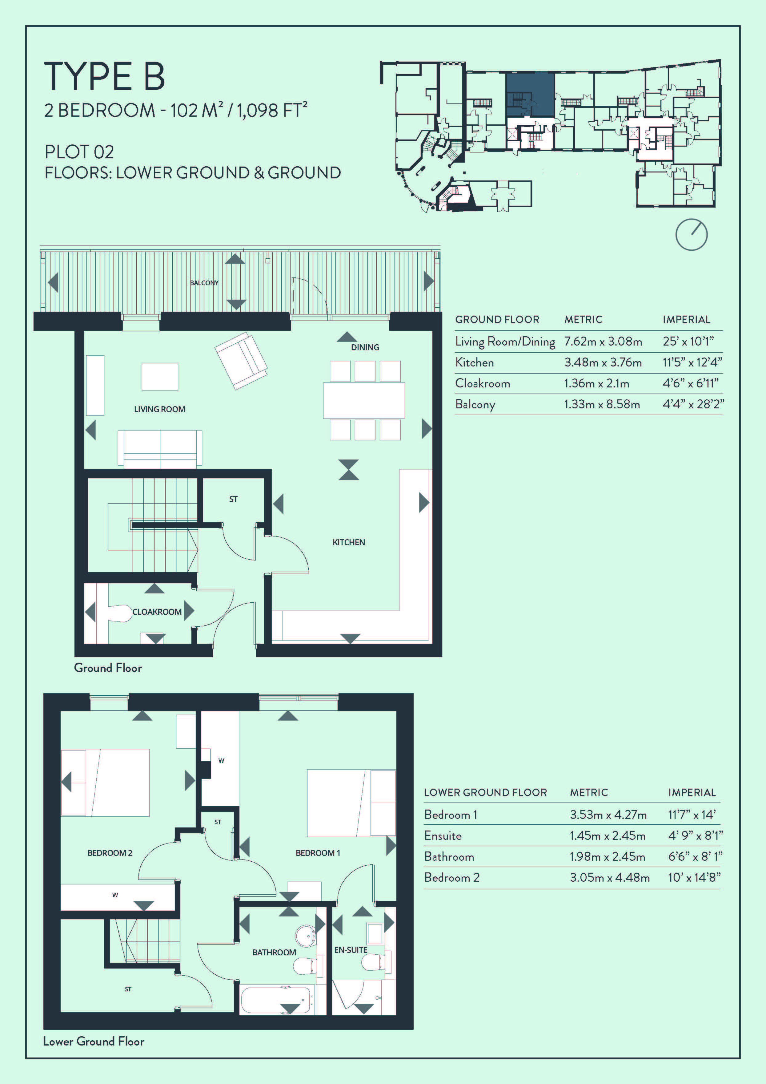 Floorplans for Plot 2 - Great Junction Street, Edinburgh, Midlothian, EH6