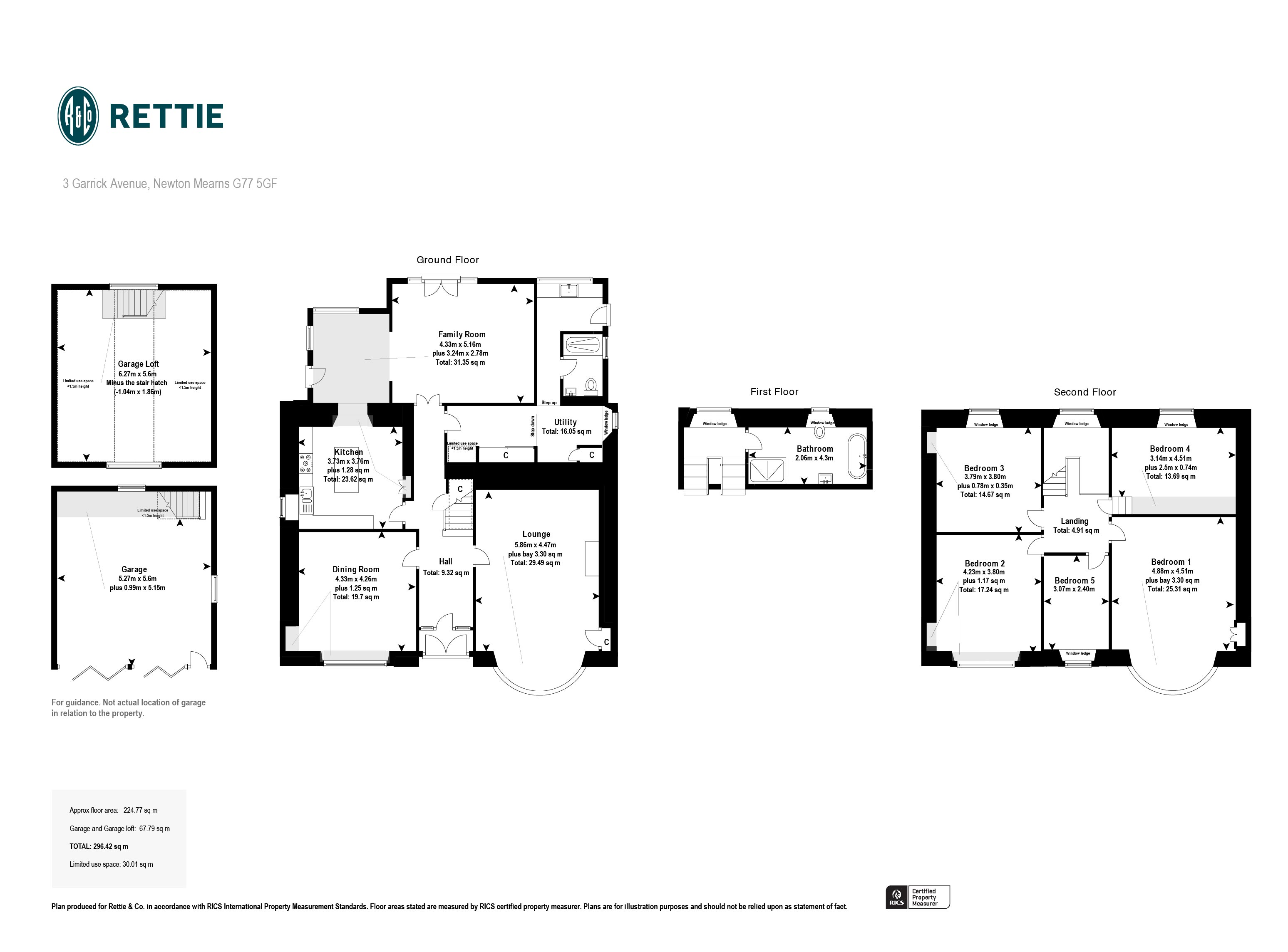 Floorplans for Dargarvel Avenue, Dumbreck, Glasgow, G41