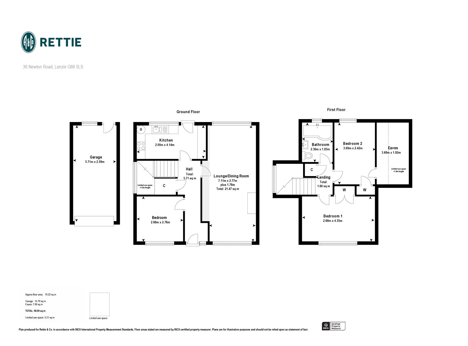 Floorplans for Newton Road, Lenzie, G66