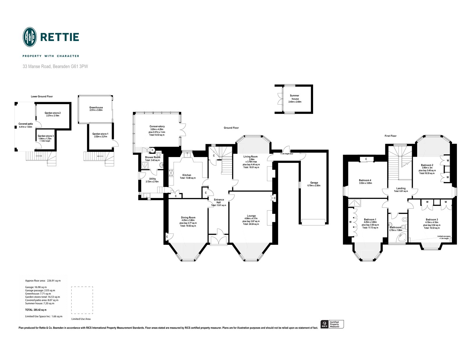 Floorplans for Manse Road, Bearsden, Glasgow, G61