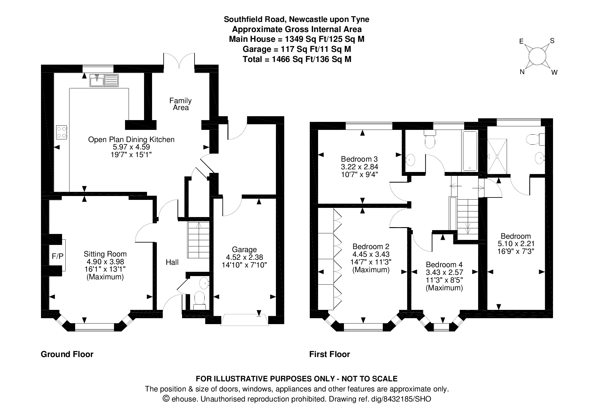Floorplans for Southfield Road, Benton, Newcastle Upon Tyne, NE12