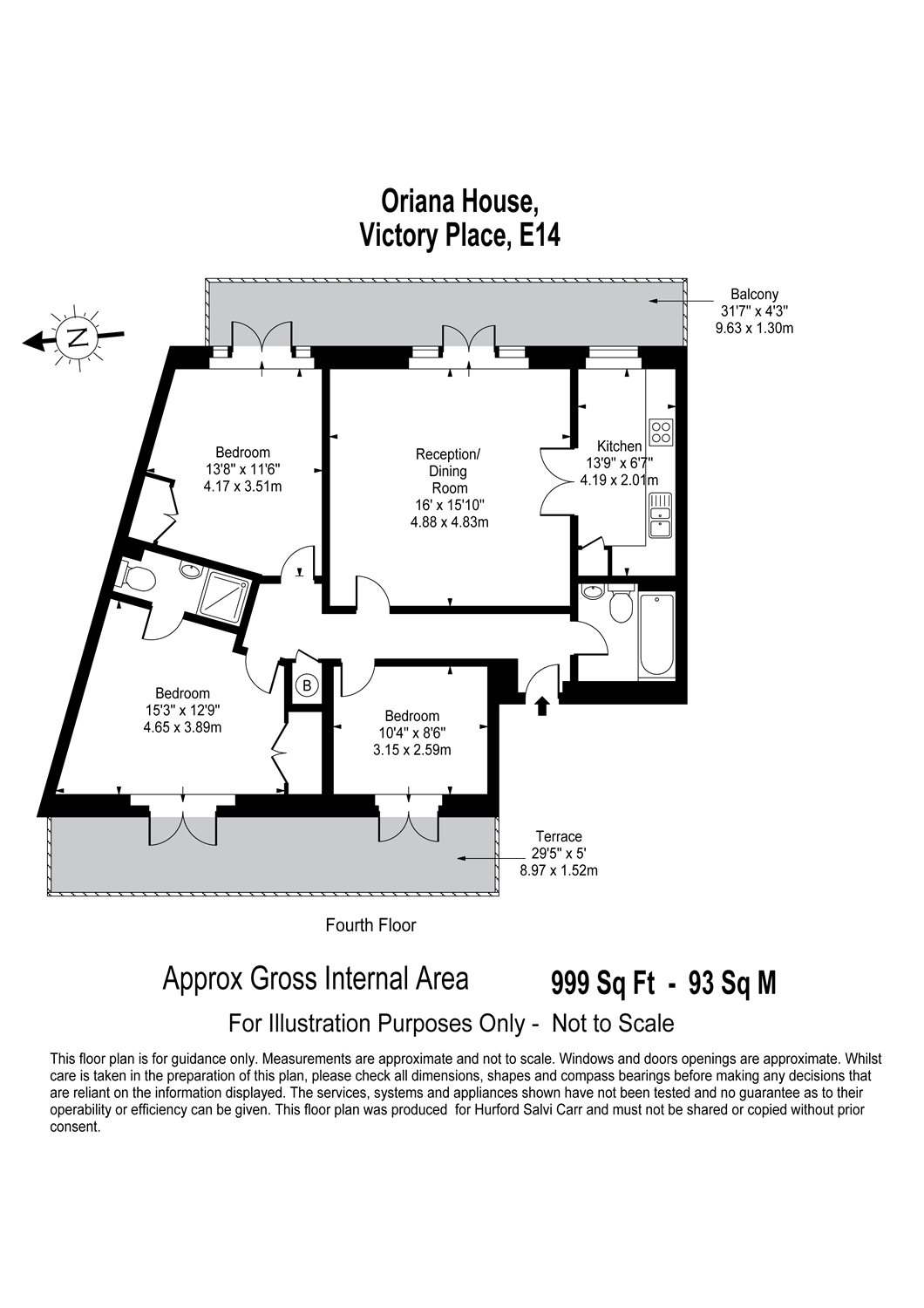 Oriana House, Victory Place, E14 floorplan